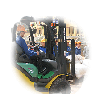 icon Operating the forklift