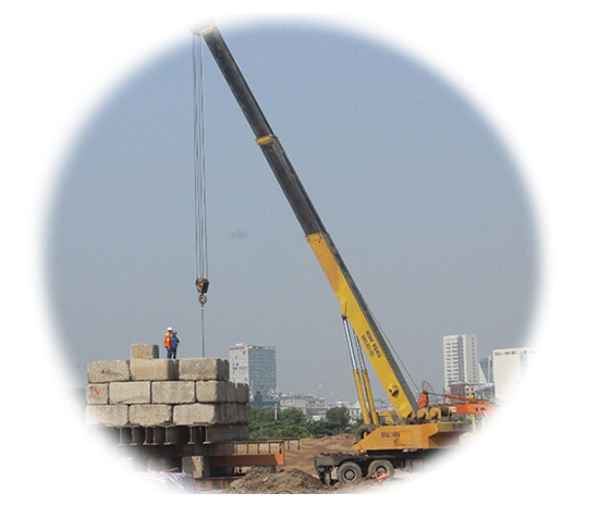 icon Operation of pile driving and pile drilling